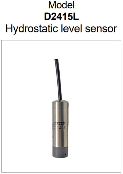 cảm biến đo mức nước bằng thủy tĩnh