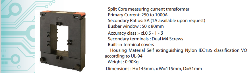 Biến dòng 1000/5A ngõ ra 0-5A